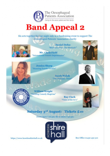 Band Appeal 2 in aid of OPA: Saturday 3rd August| 7.30pm | 201908031930: Tickets